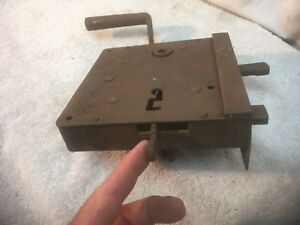 Vintage Large Metal Door Lock Latch For Skeleton Key Hand Forged Jail Dead Bolt