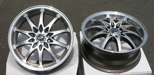 2x New Wheel 18x7 5 Adr 41 J Drive 4x100 4x114 3 Black Machined Rim 42 No Caps