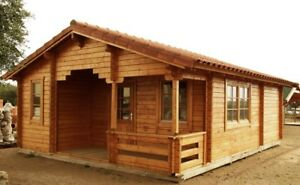 20 Ft X 26 Ft 424 Sq Ft Log Guest Pool House Cabin Kit With 56 Sq Ft Porch