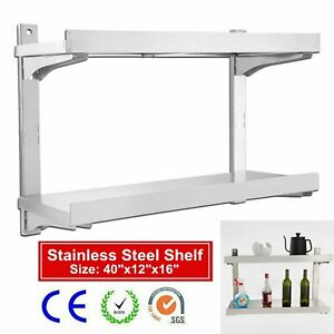 Stainless Steel Commercial Kitchen Wall Shelf Restaurant Shelving 16 X 40