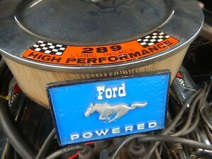 Vtg Ford Mustang Horsepower Car Club Plaque Powerby Plate Tag 64 1 2 65 66 67 68