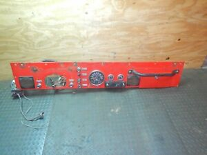 Jeep Cj 76 86 Red Interior Metal Plate Dash Plate W Gauges Free Ship
