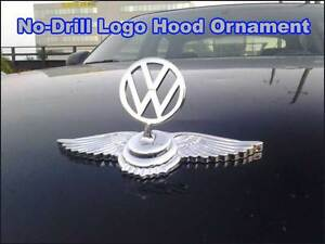 Chrome Hood Ornament Badge Emblem Logo For V w Golf Passat Jetta No Drill