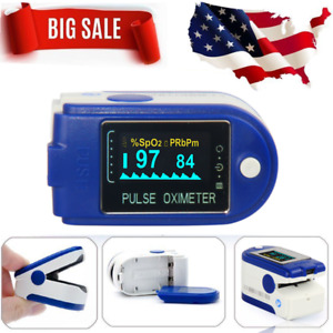 Oled Pulse Oximeter With Pouch Blood Oxygen Monitor Finger Tip Cms50da Fda Usa