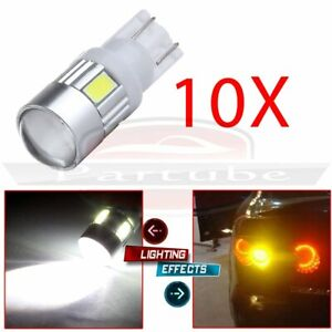 10x High Power Cree 168 921 White Led Hid Bulb T10 194 2825 W5w License Light