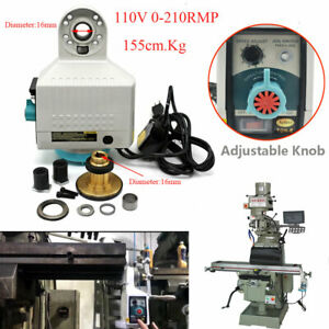 135lb X axis Power Feed 110v 0 210rpm For Bridgeport Milling Type Cnc Machine