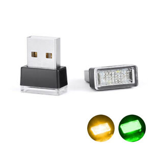 Mini Usb Led Light Car Interior Light Neon Atmosphere Ambient Lamp Green Orange