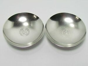 Japanese 999 Fine Silver Sake Cup Set Medal Sterling Coin 1960 Showa 35 Fish Co