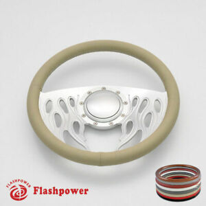 14 Billet Steering Wheels Tan Full Wrap Dodge Challenger Charger Canyon