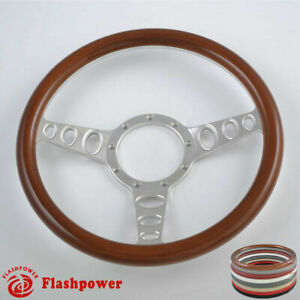 15 5 Billet Steering Wheels Walnut Wood Grain Dodge Challenger Charger Canyon