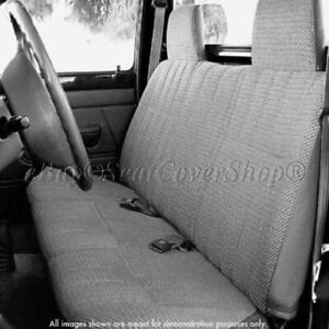 Triple Stitched Thick Small Pickup Truck Gray Solid Bench Seat Cover Custom Fit