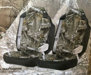 New 2 Pack Realtree Edge Camo Universal Seat Covers Free Shipping
