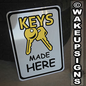 Keys Made Here Sign Aluminum 10 By 14 Cut Copy Cutting Machine Ilco Belsaw