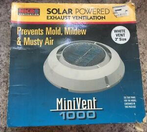 Nicro Solar Powered 3 Boat Rv Ventilation Fan
