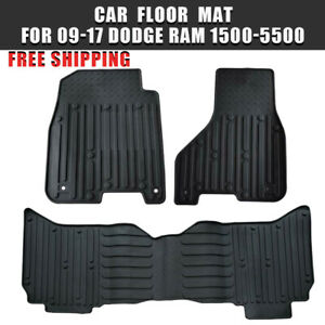 Fits 2009 2017 Dodge Ram 1500 Quad Cab Rubber Slush Car Floor Mats Set Oem