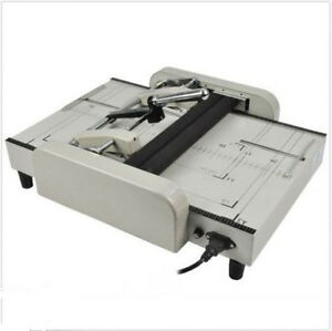 A3 Booklet Making Machine Paper Bookbinding And Folding Booklet Stapling 220v Ex