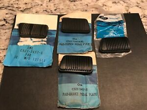 Nos Oem Ford Brake Pedal Pad Manual Brakes Clutch Mustang Cougar Comet Falcon