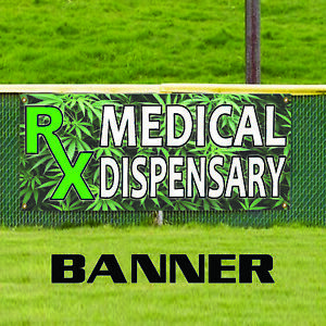 Rx Medical Dispensary Vinyl Water Resistant Store Shop Outdoor Banner Sign