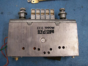 Mopar 1966 67 Coronet Am Radio Model 232 Complete With Hardware Works Great