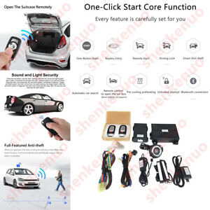 Keyless Entry Engine Start Alarm System Push Button Remote Starter For Toyota