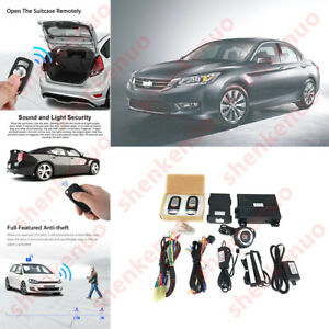 For Honda Keyless Entry Engine Start Alarm System Push Button Remote Starter