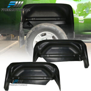 Fits 14 18 Chevy Silverado Rear Wheel Well Guards Liners Unpainted Pp Pair
