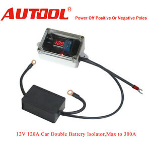 New 12v Car Double Battery Isolator Protector Auto Dual Battery Controller Smart