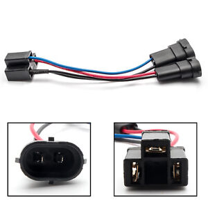 H11 To H4 Conversion Harness Cable Socket Plug Adapter Wires For Harley Davidson