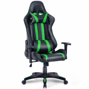 Executive Racing Style High Back Reclining Gaming Chair Office black