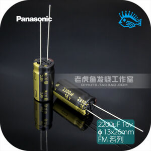 5 50pcs Panasonic Fm Series 2200uf 16v 13x26 Audio Electrolytic Capacitor