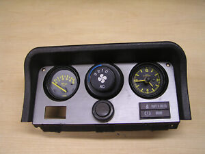 Porsche 944 Gauge Cluster Oil Pressure Analog Clock Cigar Lighter Ac Control 3c