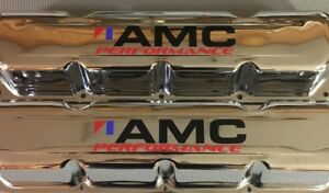 304 360 390 401 Amc Javelin Amx Eagle Jeep V8 Chrome Valve Covers 1967 87