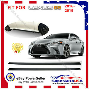 Fit For 2016 2019 Lexus Gs Gs F Sports Side Skirts Pair Body Kit Black Pp Vip