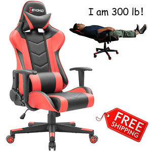 Big And Tall Gaming Computer Chair Desk Racing Office High Back Ergonomic 300 Lb
