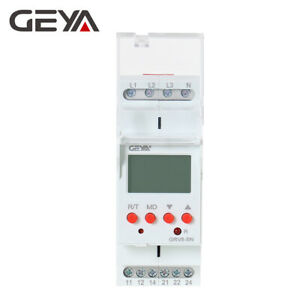 Over Under Voltage Relay Lcd Phase Voltage Protector Relay 8a ac1 2spdt