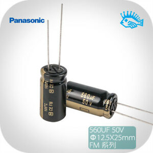 5 50pcs Panasonic Fm Series 50v 560uf 12 5x25 Audio Electrolytic Capacitor