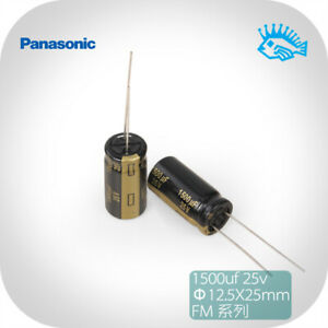5 50pcs Panasonic Fm Series 1500uf 25v 12 5x25 Audio Electrolytic Capacitor