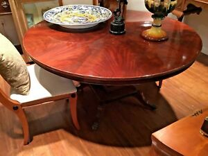 Mahogany Round Tilt Top Dinning Table From England
