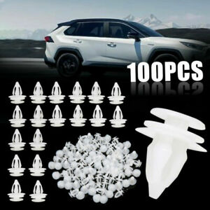 100pcs Plastic Car Door Panel Retainer Rivet Trim Clip Fastener 8 2mm Hole Tool