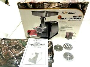 Realtree 120v 650 watt 8 Electric Meat Grinder Sausage Stuffer Camo Cover
