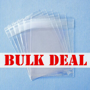 Bulk Deal 1000 pack 1 5 Mil Resealable Cello Bags Wholesale Lip