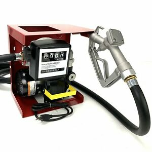 110v Electric Diesel Oil Fuel Transfer Pump W Meter With 13 Hose