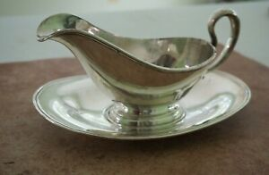 Sterling Silver Gravy Sauce Boat With Under Tray 338 Grams International G60