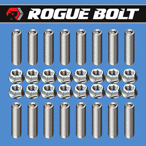Ford 351c 351m 400m Header Stud Kit Bolts Stainless Steel Cleveland M block Boss