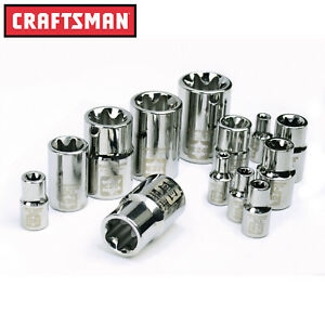 Craftsman 13 Pc Piece 1 2 3 8 1 4 Drive E torx External Socket Set 49295 11 7 9