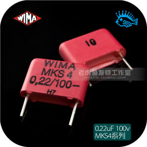 5 50pcs 0 22uf 100v Mks4 Wima 224 220nf 10 Audio Non polar Film Capacitor