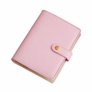 A5 A6 A7 Pu Leather Travel Journal Spiral Refillable Polka Solid Color Binder