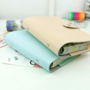 Travel Journal Refillable Spiral Loose Leaf Notebook Agenda Vintage Pu Leather