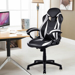 Executive Race Car Style Chair High Back Bucket Seat Gaming Office Computer