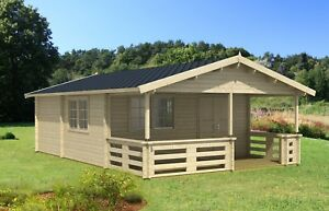 486 Sq Ft 3 Room Economy Cabin Guest Pool House Log Building Kit